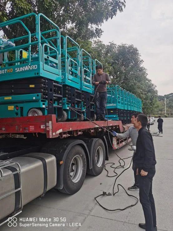 新年伊始,山河高机再次发货华南市场