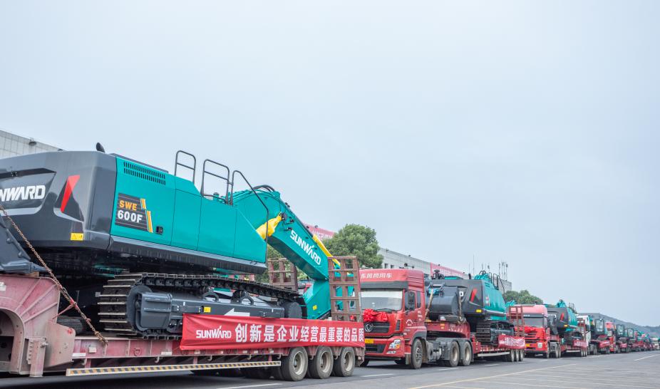 里程碑!山河智能出口欧洲第20000台暨大型挖掘机批量交付仪式成功举行