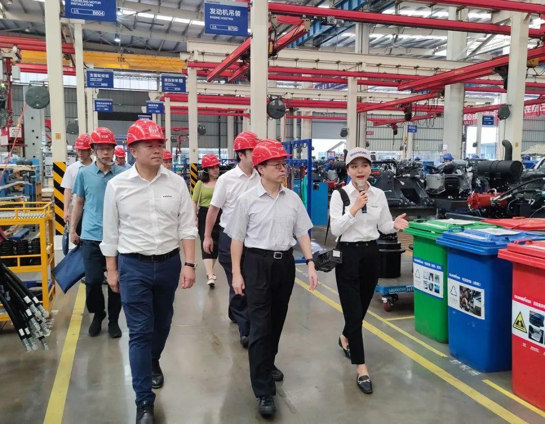中国国际贸易促进委员会领导一行调研山河智能